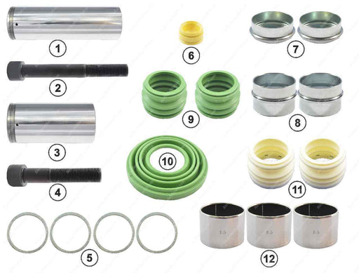 GK83003 Guide pin and seal kit PAN 19-1, PAN 22-1 Wabco Caliper 12999738VT, 1505890, 3434382701, 79787365, CWSK.4