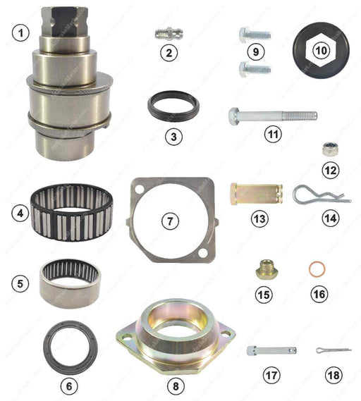 GK88505 Adjuster shaft kit DX195 Meritor Caliper MCK1294, MCK1168, MCK1169, 2995922, 1689883, 5021202850, CMSK.2R, CMSK.2