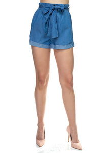 Paperbag Denim short