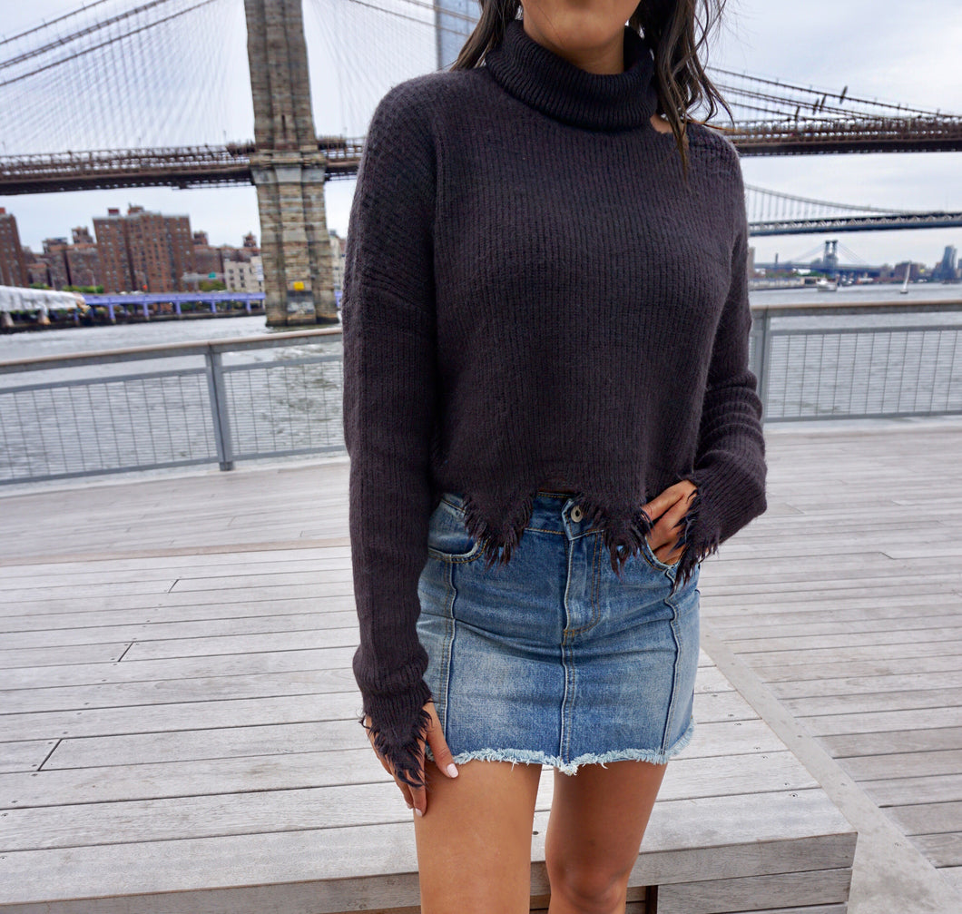 Rough Around the Edges Sweater