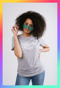 """Amarna Miller"" Unisex Smart Gray T-Shirt"