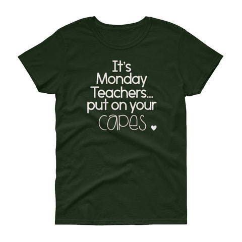 It's Monday women's short sleeve t-shirt