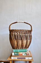 Vintage 1930s tall basket with handles