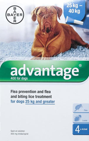 Advantage Blue Dogs Over 55lbs - 4 & 12 Pack