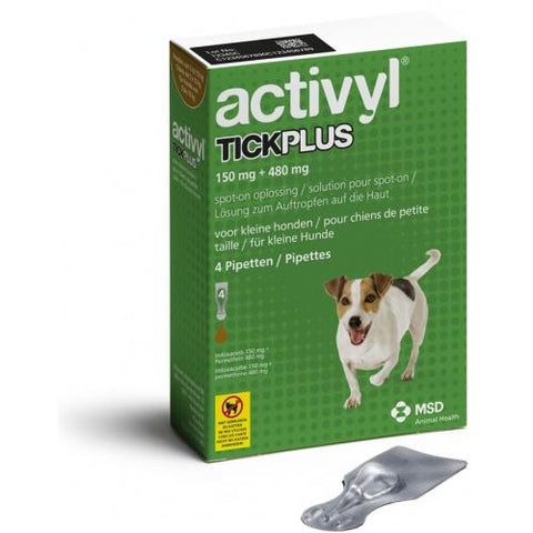 Activyl Tick Plus Spot-On for Small & Medium Dogs 4 Pack