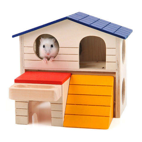 Wood Painted Small Critter House