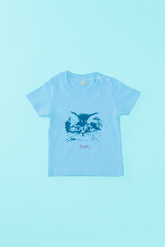 "Tシャツ ""CAT - LIGHT BLUE"""