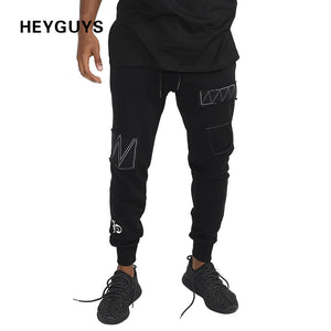 HEYGUYS 2017 fashion fitness Pant Men cargo pants sweatpants Trousers Fashion Fitted Bottoms street wear hip hop pencil pants
