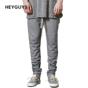 HEYGUYS Pants Casual Sweatpants Solid Hip Hop high street Trousers Pants Men Joggers oversize brand high quality plaid pants