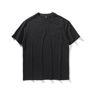 HEYGUYS high quality pure color hip hop street T-shirt man fashion US size t shirts men summer short sleeve oversize