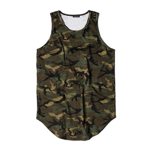 GONTHWID Multi Color Camouflage Extended Tank Tops Men 2017 Summer Fashion Casual Sleeveless Vest T Shirts Curved Hem Streetwear