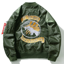 GONTHWID Embroidery Dragon Bomber Jackets 2017 Mens MA1 Pilot Bomber Jacket Male Embroidered Badge Thin Coats Army Green 4XL