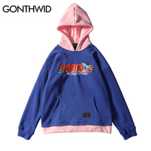 GONTHWID Embroidery Patchwork Hoodies Mens 2017 Winter Color Block Pullover Hoodie Sweatshirts Hip Hop Casual Cotton Streetwear