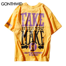 GONTHWID 2018 Summer Printed Short Sleeve T-Shirt Mens Hip Hop Casual Cotton Skateboards Tops Tees Tshirts Fashion Streetwear