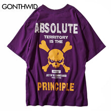 GONTHWID Mens Hipster Skull T Shirts 2018 Summer Casual Printed Short Sleeve T-Shirts Hip Hop Fashion Streetwear Tops Tees