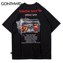 GONTHWID 2018 Revolution Radio Tour Mens T Shirts Summer Hip Hop Fashion Casual Cotton Short Sleeve Tshirts Streetwear Tops Tees