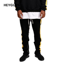 HEYGUYS Casual pants men side Hip Hop high street Trousers Pants Men oversize brand high quality pants men hot selling