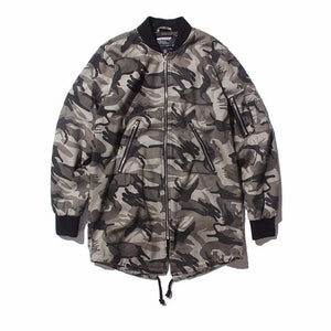 HEYGUYS 2018 high street  Europe street camo Jacket Hip Hop Suit Pullover Winter Jacket Men Coat fashion men Casual  jacekts