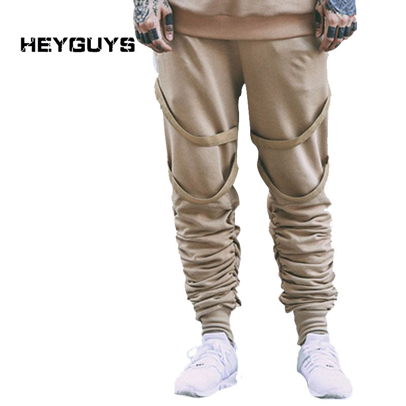 HEYGUYS 2018 elastic high quality street fashion slim high street male casual pants sweatpants jogger  men pants