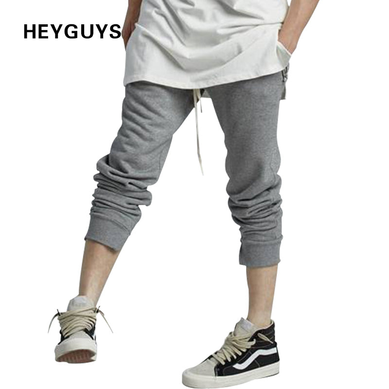 HEYGUYS fashion 2018 sweat pants man zipper real US size street wear hip hop jogger pants men compression brand hip hop