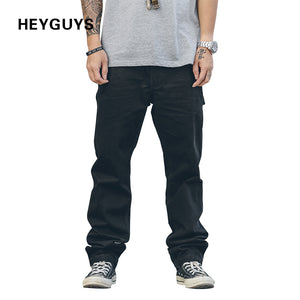 HEYGUYS 2018 new loose Long Pant Men cargo  pants Baggy Trousers Fashion Fitted Bottoms street wear hip hop Pocket pant