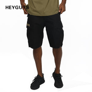 HEYGUYS 2018 Hot Sale new Men's Summer Fashion Shorts Casual button fly Waist Trousers Shorts  color green color black hip hop