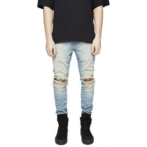 fashion new 2018 original design hole pants jogger pants brand high quality jeans luxury man casual street straight  hip hop