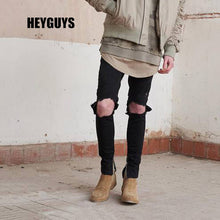 fashion new 2018 original design hole jeans pants  high quality hiphop casual street straight  hip hop