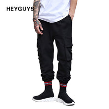 HEYGUYS 2018 fashon Fitness pockets  Long Pants Men  Casual Sweatpants Baggy Jogger Trousers Fashion Fitted streetwear hiphop