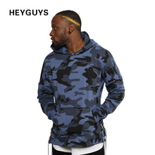 HEYGUYS 2018 Hoodies men Sweatshirts red blue camouflage street wear new design fashion hip hop men  hoodie hoody real usa size