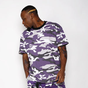 HEYGUYS 2018 fashion pink yellow purple camouflage t shirts Men Casual streetwear hiphop high quality  shirts men T-shirts brand