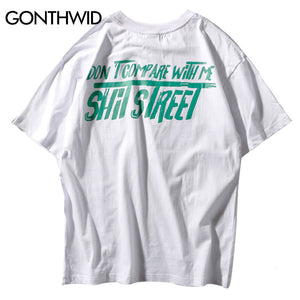 GONTHWID Funny Shit Street Printed Short Sleeve T Shirts 2018 Hipster Casual Cotton Tops Tees Mens Hip Hop Tshirts Streetwear