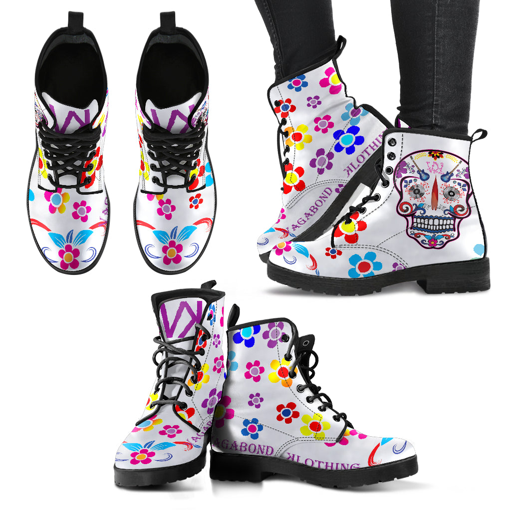 VK Sugar Skull White/Purple