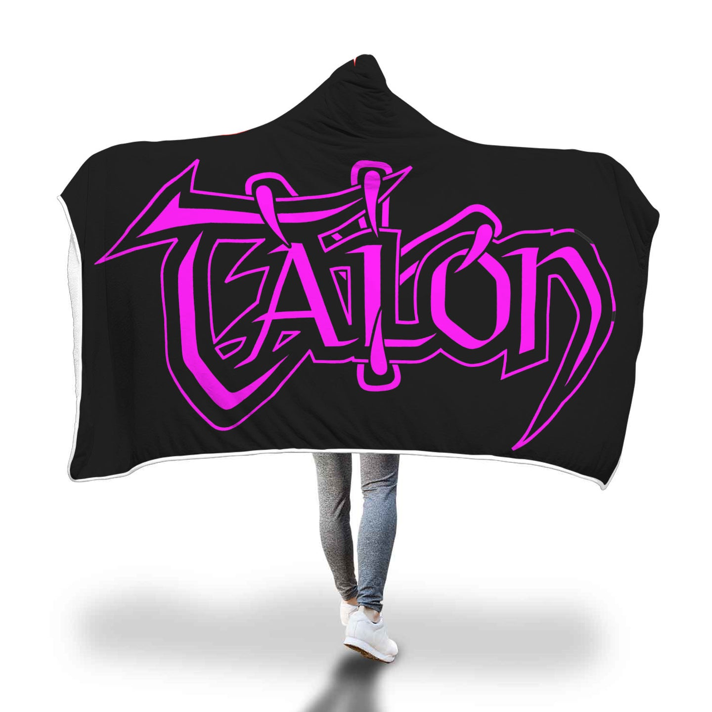 Talon Pink Hooded Blanket