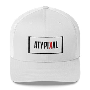 Men's Simple Atypikal Printed Trucker Cap - Vagabondklothing.com