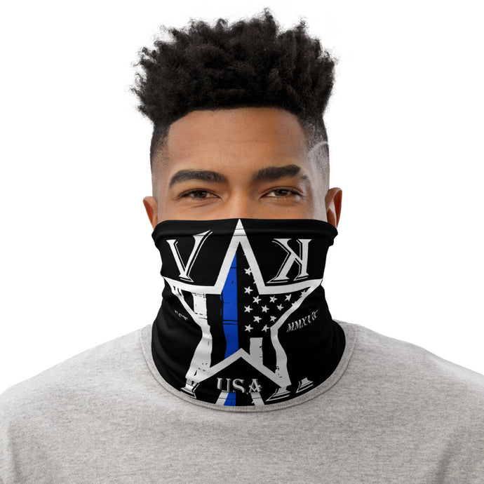 VK Star Thin Blue Line Neck Gaiter
