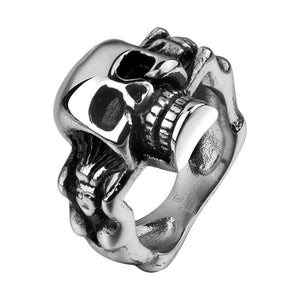 Skull ring 316L stainless steel ring, Jewelry, Vagabond Klothing Ko.- Vagabond Klothing Ko.