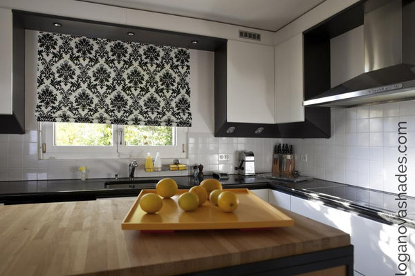 contemporary kitchen window treatment