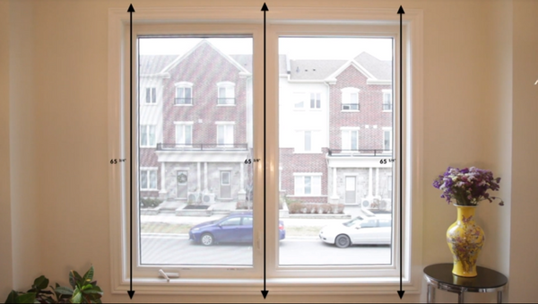 measure height for outside mount window treatments