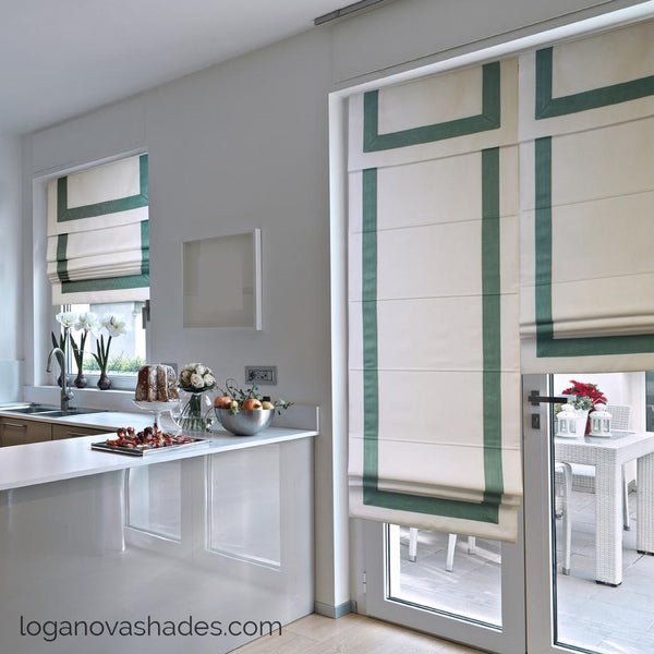 large windows treatments modern shades
