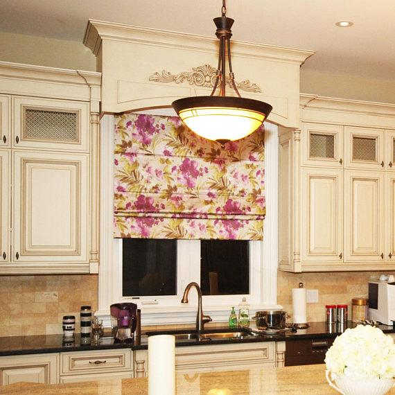 french style kitchen window treatment
