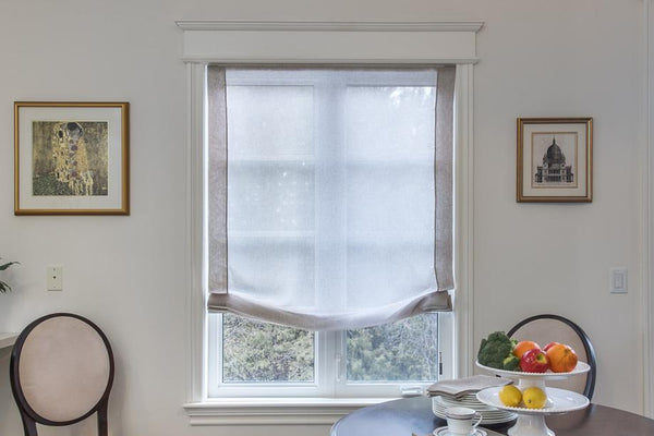 sheer simple window covering for kitchen