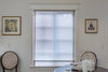 "Custom Plain Fabric Relaxed Sheer Roman Shade ""Lucky Earth"""