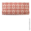 Custom Linen Roman Shades With Bold Coral Orange Design
