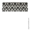 Bold Black & White Traditional Pattern Roman Shade