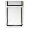 Faux Linen Black Border Blackout Roman Shades