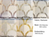Geometric Pattern 5 Colours Hanover Pebble Flat Roman Shade