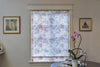 "Custom Beige Floral Design Relaxed Sheer Roman Shade ""Paloma Sand"""
