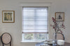 Custom Plain Fabric Flat Sheer Roman Shade