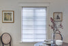 "Custom Plain Fabric Flat Sheer Roman Shade ""Lucky Earth"""